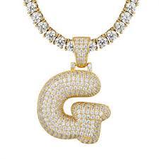 custom pendant custom letter g initial pendant 925 silver gold finish 4mm