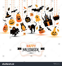 halloween banner on white background invitation stock vector
