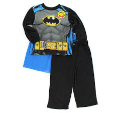 batman toddler boys pajamas set with cape
