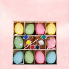 decorative eggs 10 pcs box 6cm creative graffiti easter decorative eggs gift