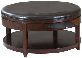 round leather coffee table beautiful round ottoman coffee table fabric ottoman coffee table