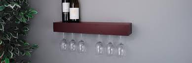 wine glass rack hanging stemware holder wall mounted shelf bar