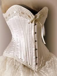 wedding corset ivory wedding dress silk corset and bustle skirt