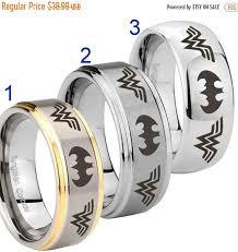 batman wedding rings sale tungsten woman batman 8mm gold ip silver dome step