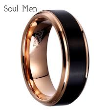 titanium tungsten rings images 8mm 6mm 4mm black rose gold color tungsten carbide wedding band jpg