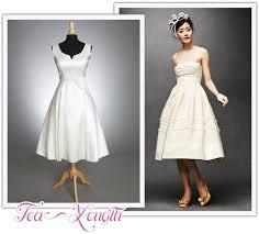 tea dresses wedding tea length wedding dresses tea length bridal gown 50s style