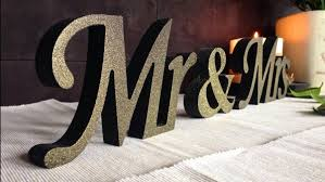 mr mrs sign for wedding table wooden black with gold dust sign mr and mrs wedding signs wooden