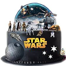 war cakes stand up wars cake premium edible wafer paper cake