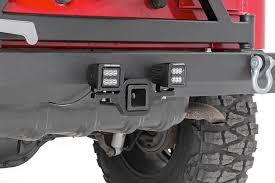 led backup light bar rou 70686 rough country rear cree led backup light hitch mount kit