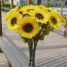 artificial sunflowers 2018 sunflower sun flower artificial sunflowers 72cm for