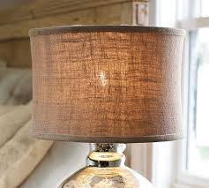 Burlap Chandelier Shades Burlap Flared Drum Lamp Shade Pottery Barn