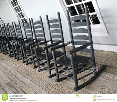 Rocking Chairs For Adults Rocking Chairs Lined Up On The Porch Stock Image Image 11981881