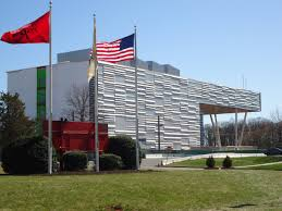 University Flags File Rutgers University Livingston Campus Building With Flags Jpg