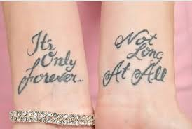 nice grey ink love quote tattoo design golfian com