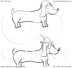 weiner dog coloring pages