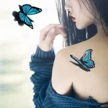 3d butterfly design sticker waterproof non toxic jewelry