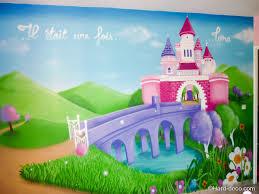 fresque chambre fille chambre princesse fille