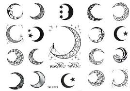 moon 19style totem temporary tattoos by