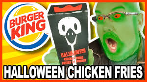 burger king halloween chicken fries review youtube