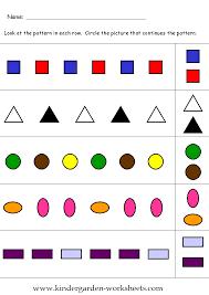kindergarten worksheets kindergarten pattern worksheets