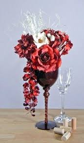 Martini Glass Vase Flower Arrangement Tall Glass Flower Arrangements Large Martini Glass Flower