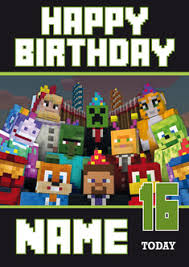 minecraft cards minecraft new design 3 personalised birthday card