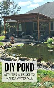 diy pond how to make a backyard oasis with waterfall