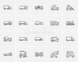 transportation sketch icon set stock vector image 76483546