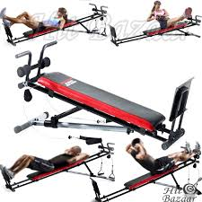 home gym bench weights exercise strength trainer equipment total