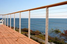 Stainless Steel Banister Rail Stainless Steel Cable Railing Posts Powder Coated San Diego