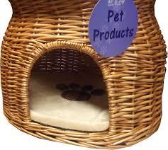Wicker Beds 2 Tier Pet Cat Bed Wicker Pet Pod Cat Kitten Dog Puppy Bed Basket
