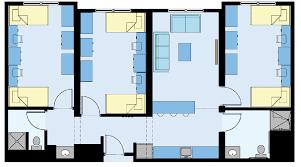 in suite floor plans cus housing