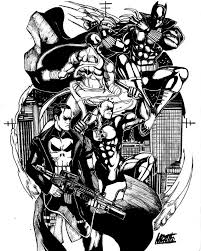 punisher black panther daredevil and iron fist by