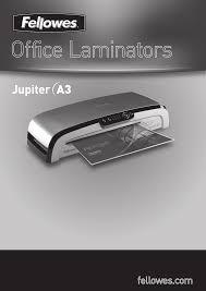 fellowes laminators office laminator jupiter a3 pdf user u0027s manual