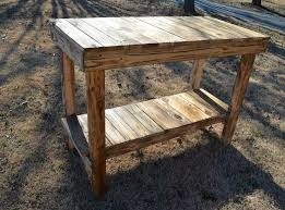 pallet kitchen island console table