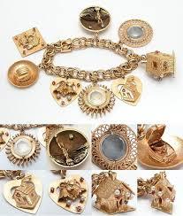 charm bracelet gold vintage images 1960 39 s gold charm bracelet good grief this is sooo beautiful jpg