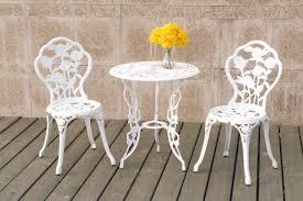white pub table set 3 piece white bistro set
