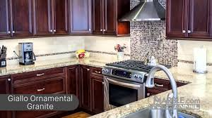Kitchen Backsplash Dark Cabinets by Top 5 Granites For Dark Cabinets Youtube