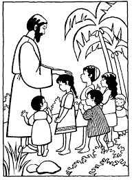 jesuse and the children coloring pages coloring home