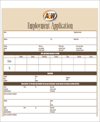 49 job application form templates free u0026 premium templates