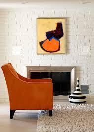 orange black interiors living rooms bedrooms kitchens