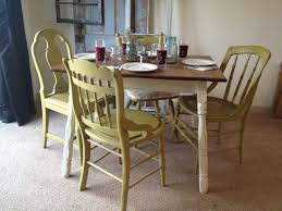 Dining Chairs White Wood Living Room Beautiful Image Of Dining Room Decoration Using Yellow