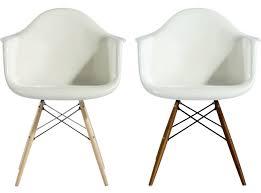 gorgeous eames daw armchair wood fiberglass replica med plastic