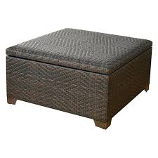 Wicker Storage Ottoman Coffee Table Outdoor Storage Ottoman Collection In Outdoor Storage Ottoman