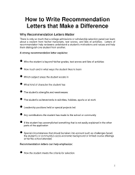 recommendation cover letter writing a mba letter ofcollege