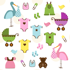 baby shower backgrounds clipart