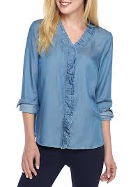 chambray blouse crown chambray shirt belk