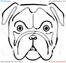 bulldog face clipart china cps