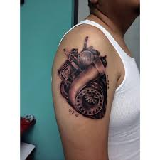mechanic tattoos photo collection engine heart shaped tattoos
