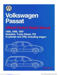 volkswagen passat 1995 b3 b4 3 g service workshop manual